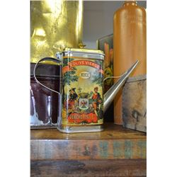 Vintage Olive Oil Tin