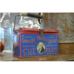 George Washington Cut Plug Tin Lunch Box