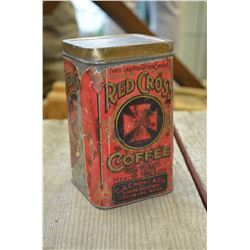 Vintage Red Cross Coffee Tin