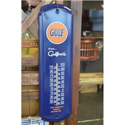 Gulf Thermometer Sign