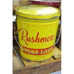 Vintage Rushmore Lard Tin
