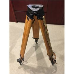 Old Russian Vintage Wood and Metal Survey Tripod Stand