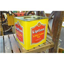 LARGE Vintage Lipton Tea Tin - Excell Cond!