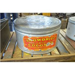 LARGE Vintage Coconut Tin