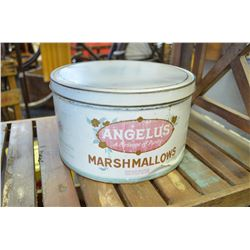 LARGE Vintage Marshmellow Tin