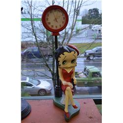 """28"""" tall - Betty Boop Statue/Clock"""