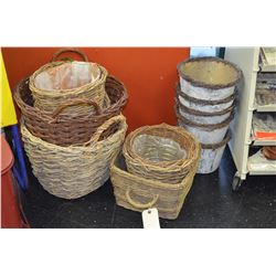 Various Wicker Basket Lot