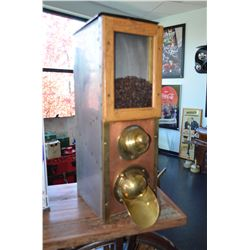 Vintage Countertop Dispenser - Brass, Copper, Metal, & Wood