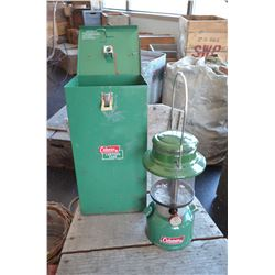 Vintage Coleman Lantern & Metal Case