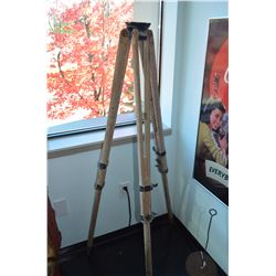Antique Wooden Tripod