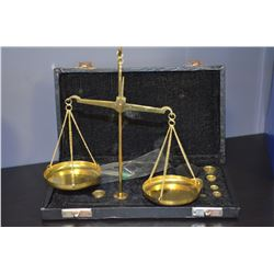 Brass Travelling Scale - in case
