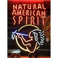 "Neon Sign - ""Natural American Spirit"" - Rare!"