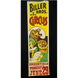 Biller Bros.Circus Poster-circa 1945-50.