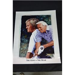 "1997 Glen Green - ""The King & The Bear"" Golf Poster"