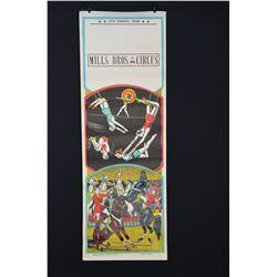 Vintage Circus Poster - Mills Bros. 3 Ring Circus - (Circa 1966)