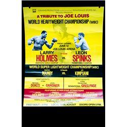 Holmes vs Spinks (cardboard) Poster