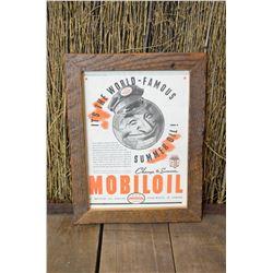 Framed Mobioil Advertising