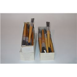 Lot of painters brushes