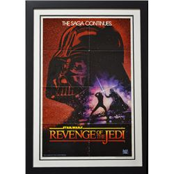 "ORIGINAL ""Revenge of the Jedi"" (1983) 1-sheet Poster - Version 1 (NO DATE)!"