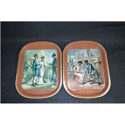 "Two limited edition Coca-Cola trays from the ""Romance of Coca-Cola"" series"