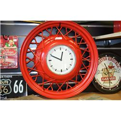 Custom (One-of-a-kind) Wheel Clock - Working