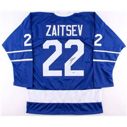 Nikita Zaitsev Signed Maple Leafs Jersey (Beckett COA)