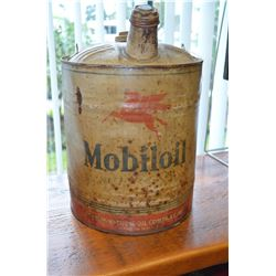 Mobiloil Gas Can - Great Graphics!