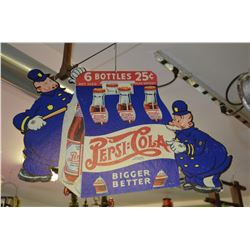 Vintage cardboard Pepsi-Cola Sign (double-sided)