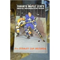 1963-64 Toronto Maple Leafs information Booklet
