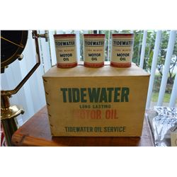 "24 - ""Tidewater"" - Oil Cans in Original Case"