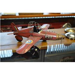 Model Tin Airplane