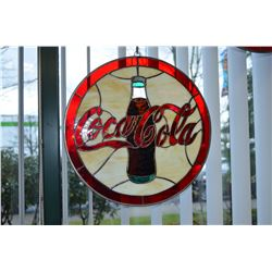 Stainglass Coca-Cola Sign