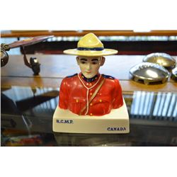 Collectible RCMP Ceramic Coin Bank