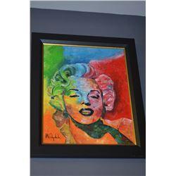 Framed Marilyn Monroe Painting