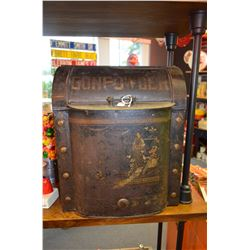 Large - Gun Powder Tin - Excellent Shape!