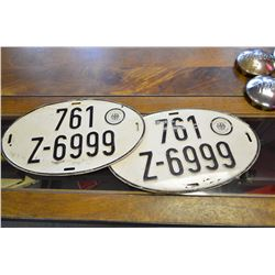 Pair of German License Plates