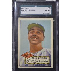 1952 Topps #394 Billy Herman CO - (NM-MT)