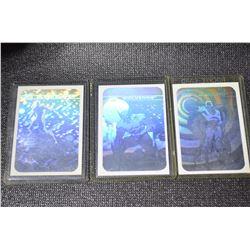 3-1990 Marvel Universe I Hologram Cards
