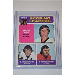 1975-76 Topps #210 Scoring Leaders/Bobby Orr/Phil Esposito/Marcel Dionne