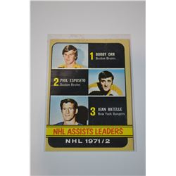 1972-73 Topps #62 Assists Leaders DP/Bobby Orr/Phil Esposito/Jean Ratelle