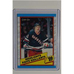 1989-90 O-Pee-Chee #326 Brian Leetch HL UER