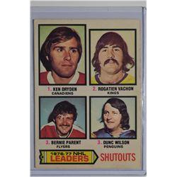1977-78 O-Pee-Chee #8 Shutouts Leaders/Ken Dryden/Rogatien Vachon/Bernie Parent/Dunc Wilson