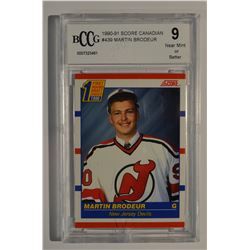 1990-91 Score Canadian #439 Martin Brodeur RC