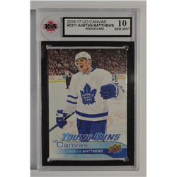 2016-17 Upper Deck Canvas Auston Matthews GEM MINT 10!