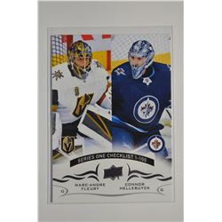 2018-19 Upper Deck #199 Marc-Andre Fleury/Connor Hellebuyck CL