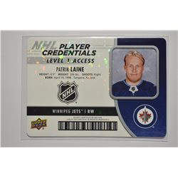2018-19 Upper Deck MVP NHL Player Credentials Level 1 Access #NHLPL Patrik Laine