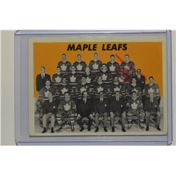 1965-66 Topps #123 Toronto Maple Leafs/Team Card SP