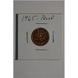 1965 Can 1-Cent Proof