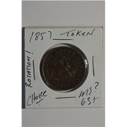 1857 Token (rotation error)