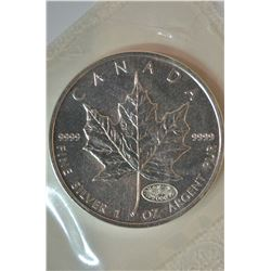1oz 2000 Canada Silver Maple Leaf Fireworks